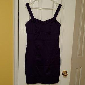Satin purple strap dress - Dynamite Size 7